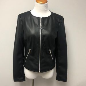 Express Faux Leather Black Jacket